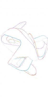 Z  7390, Buntstift auf Papier, 2012, 40 x 30